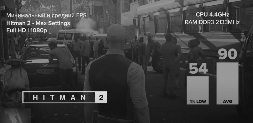 I7 4770K + RX 5700 XT в Hitman 2 (2018)